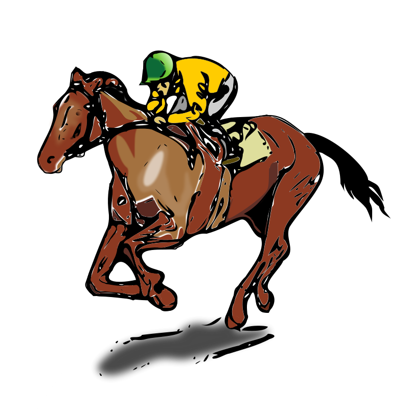 800x800 Horse Racing Clip Art