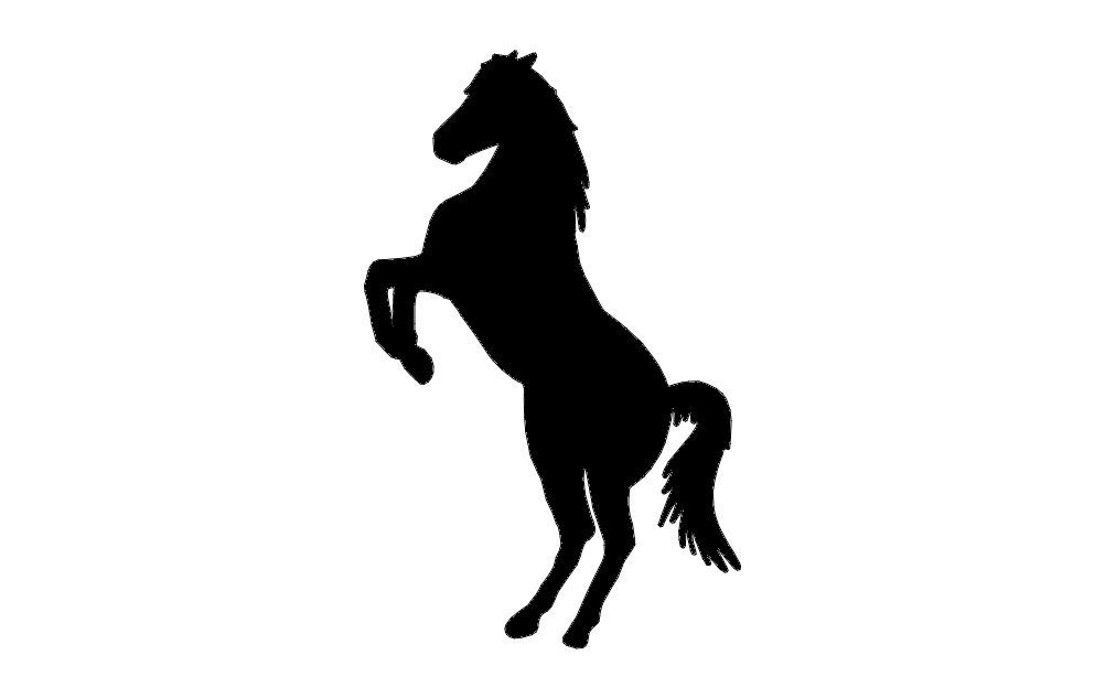 Horse Rearing Silhouette at GetDrawings.com | Free for ...
