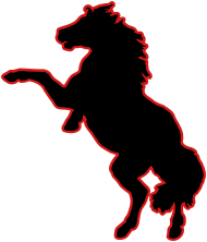 190x222 Rearing Horse Silhouette 2 By Fratpete Spreadshirt