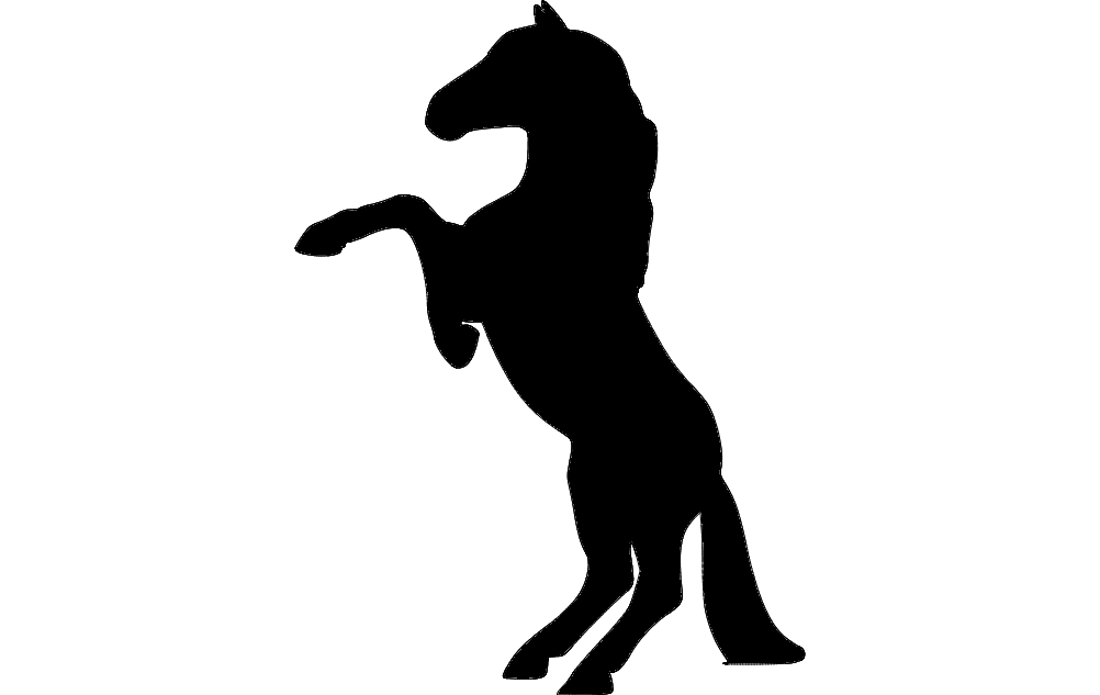 1002x633 Horse Rearing Dxf File Free Download