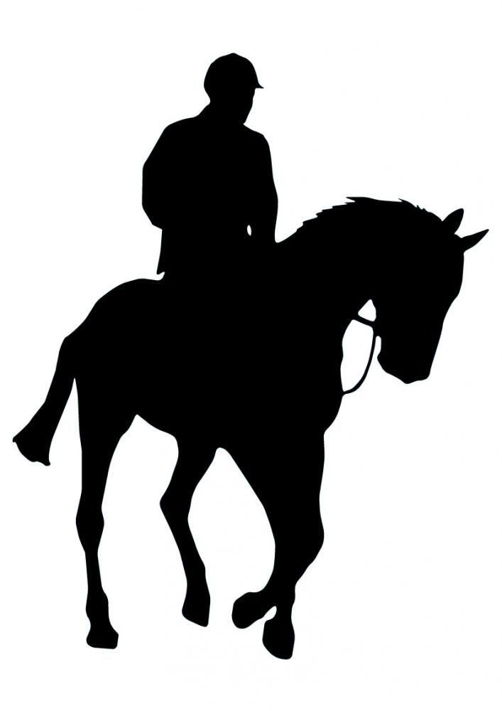 707x1000 Horseback Riding Silhouette