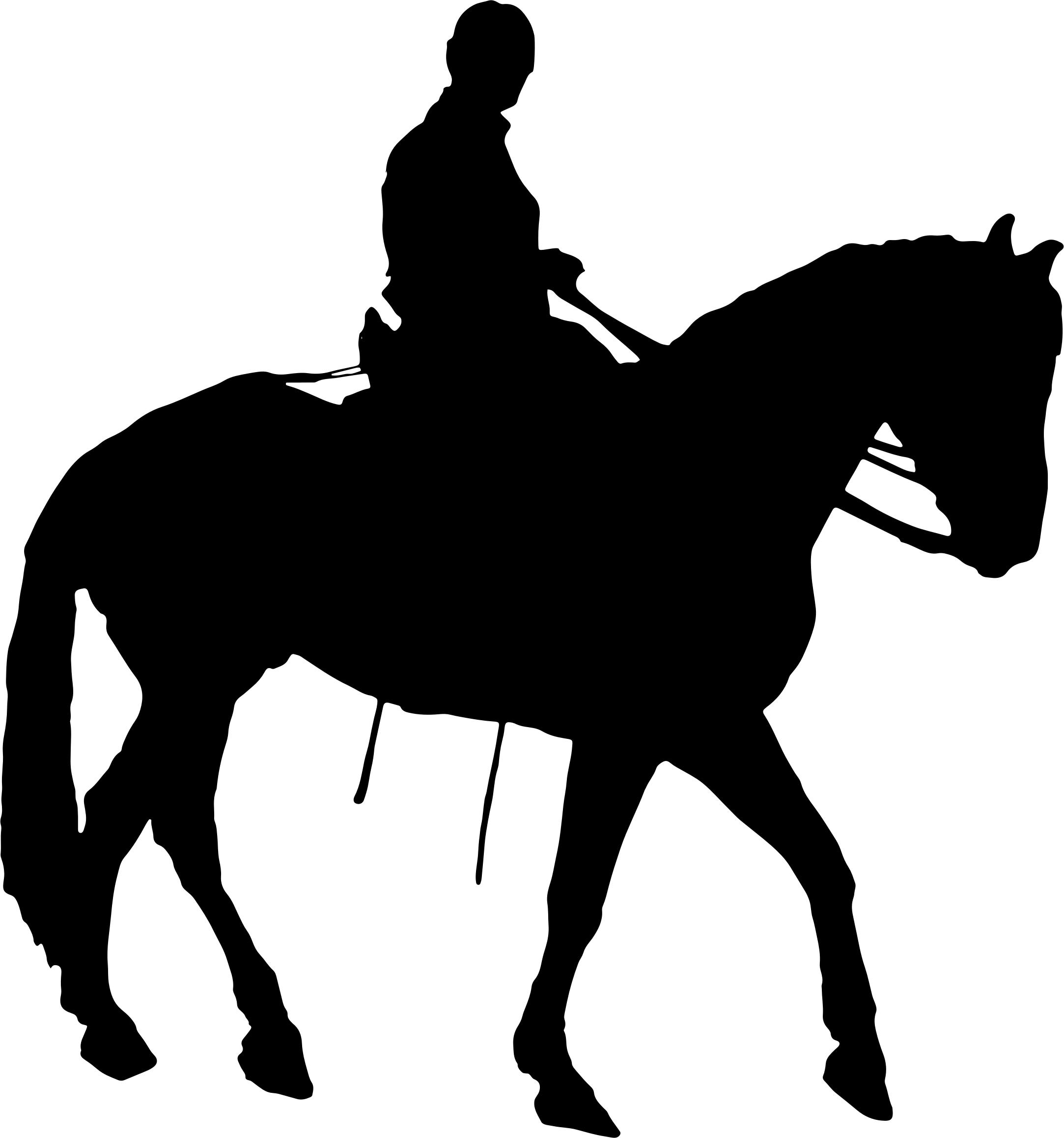 2166x2318 Man Riding Horse Silhouette Icons Png