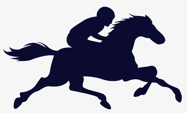 613x370 Rider Silhouette Vector Material, Horse Riding, Race, Horseman Png