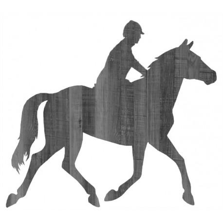 458x458 Silhouette Cheval Cavalier En Bois Grandeur Nature Horse Rider