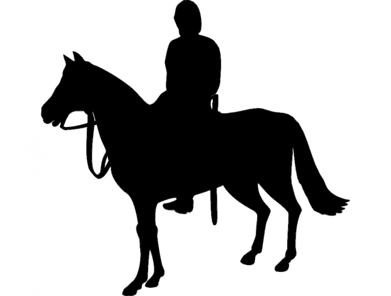 800x606 Horse Rider Silhouette Dxf File Free Download
