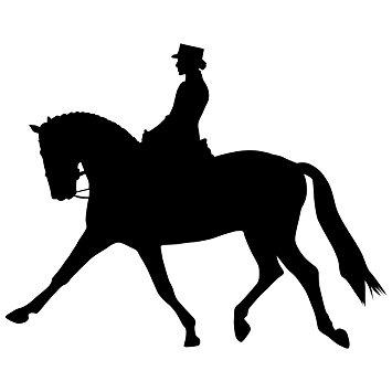 355x355 Horseback Riding Wall Decal Sticker 2