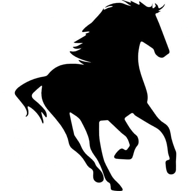 626x626 Horse Running Silhouette Facing Right Icons Free Download