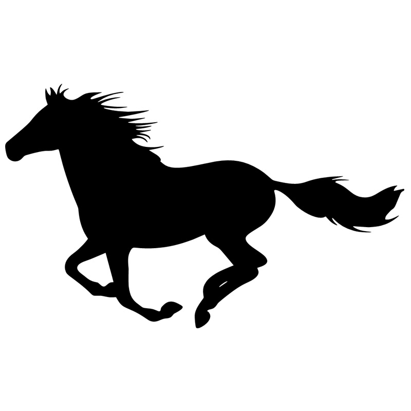 800x800 Running Horse Silhouette Decal