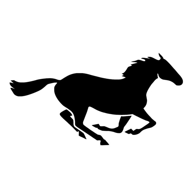 640x640 Running Horse Vinyl Decal Horse Silhouette Car Styling Car Sticker