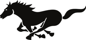 298x138 Running Horse Clip Art