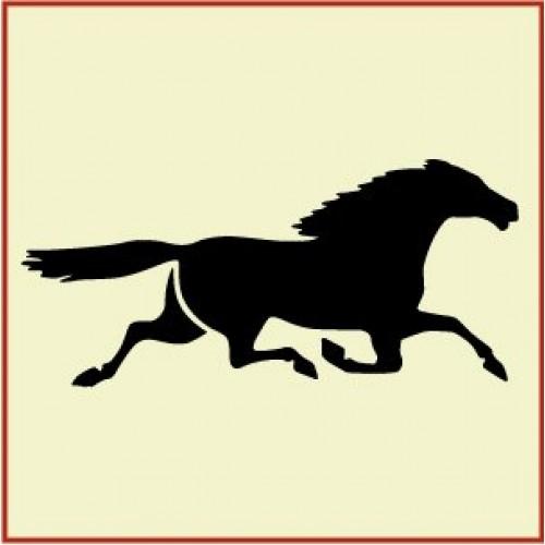 500x500 Horse Stencil