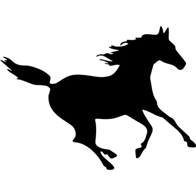 626x626 Horse Black Fast Running Silhouette Icons Free Download