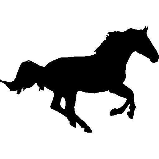 512x512 Horse Running Silhouette
