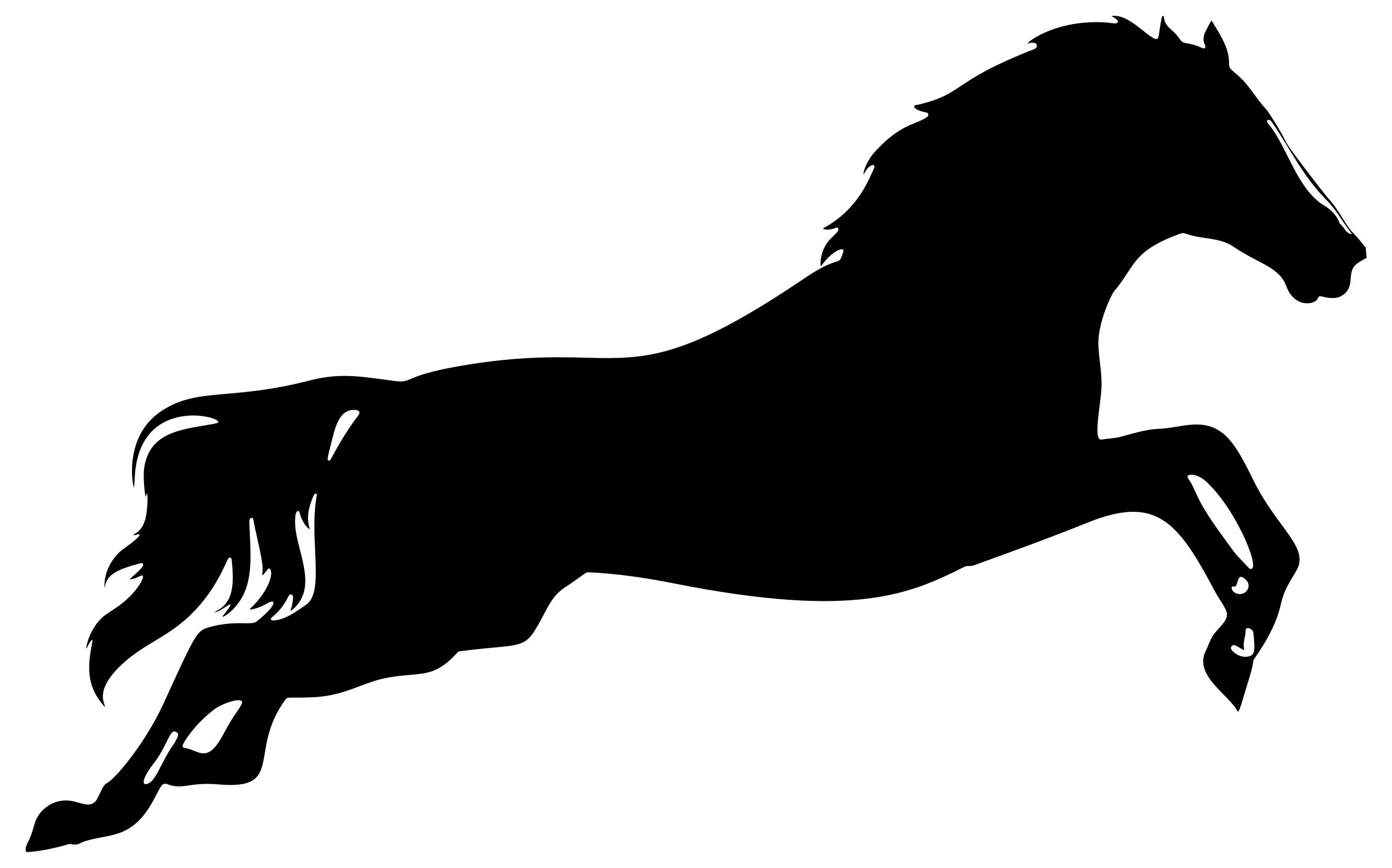 2657x1657 Leaping Horse Silhouette Clipart