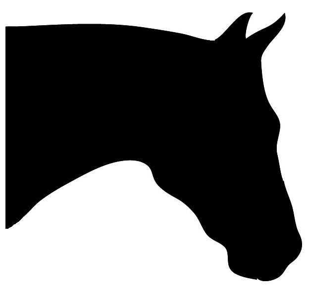 624x595 Horse Head Clip Art Horse Silhouette Horse Head Bowing.jpg