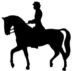 Horse Silhouette Jumping