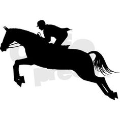 236x236 Jumper Horse Silhouette Decal 6 X 5 Equestrian Room