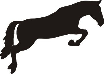 360x256 Jumping Horse Silhouette Decal 6 X 4.5 Beautiful Tattoos