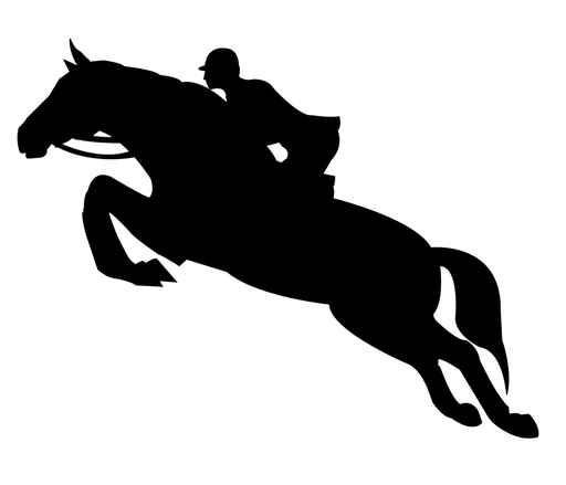 512x439 Jumping Horse Silhouette Wall Decal Wallmonkeys