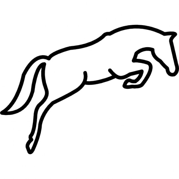 626x626 Jumping Horse Outline Icons Free Download