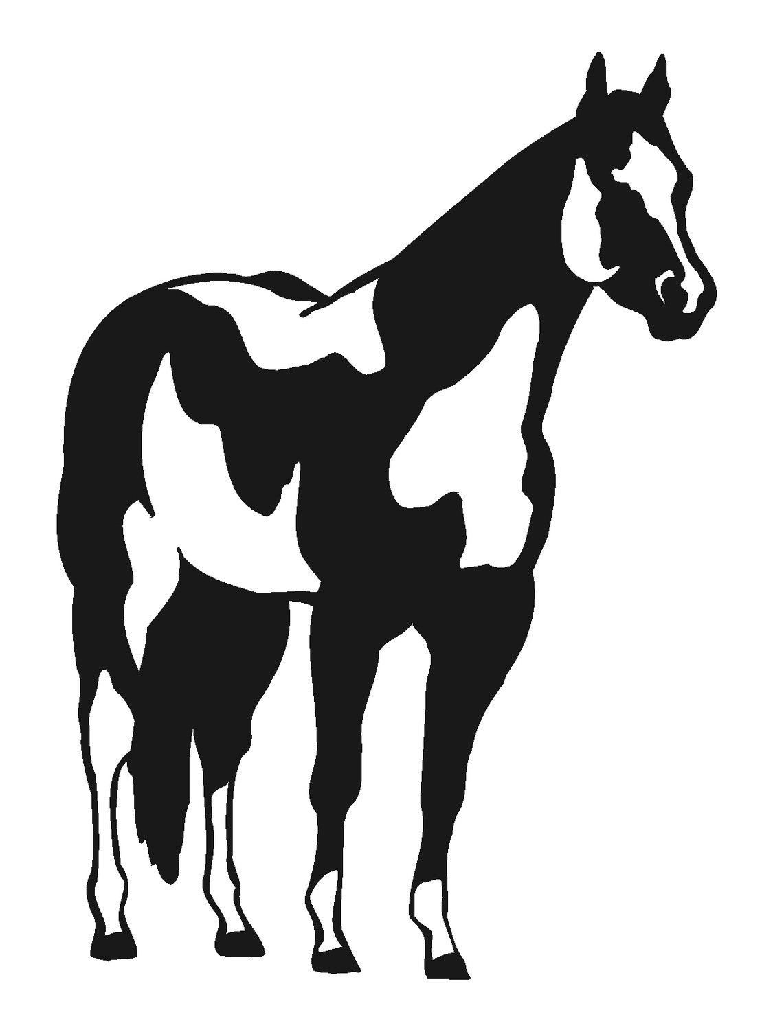 1125x1500 Horse decal Horse wall decal Horse sticker Paint horse decal Paint  sc 1 st  GetDrawings.com : horse silhouette wall art - www.pureclipart.com