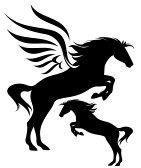 141x168 Horse Silhouette Running Horse Illustration Black And White