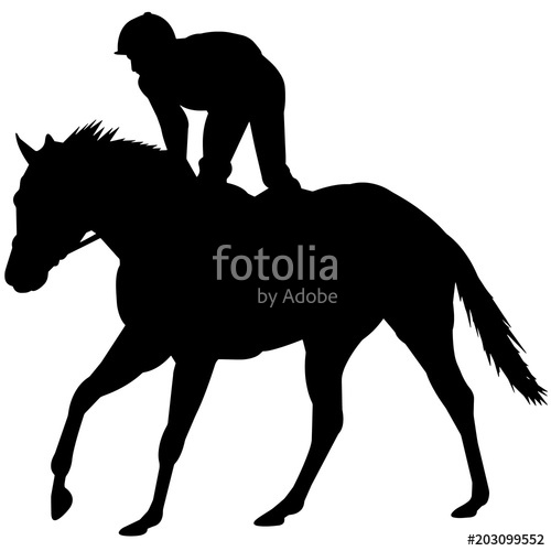 500x500 Horse Racing Silhouette, Horse Racer Clipart, Horse Racing Sports