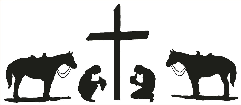 1500x660 Cowboy Clipart Prayer