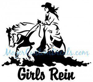 300x265 Reining Horse Sliding Stop Western Rider Vinyl Decal Sticker You