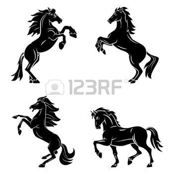 350x350 Horse silhouette%3a tattoo symbol kon%c4%9b tattoo
