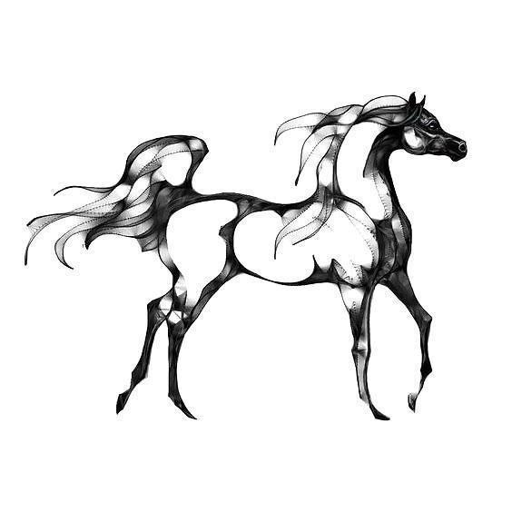 564x564 Black Horse Silhouette Tattoo Design Silhouette Tattoos, Tattoo