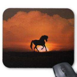 260x260 Horse Sunset Mouse Pads Zazzle