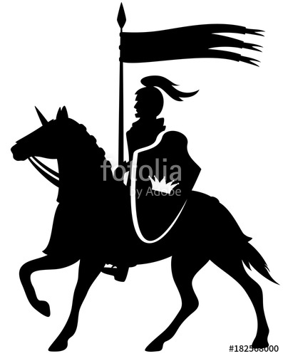 397x500 Royal Knight With A Crown Shield Riding A Horse
