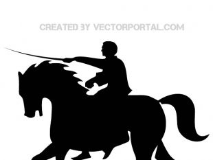 310x233 Horse Rider Silhouettes Vector Free Vectors Ui Download