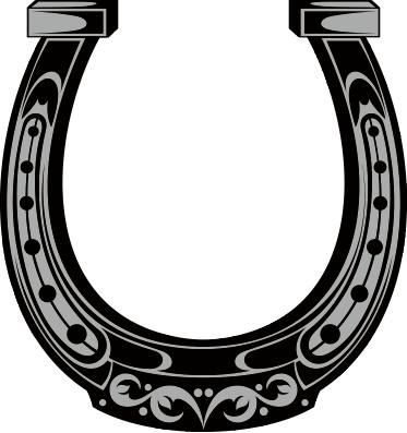 373x397 Horseshoe Silhouette Vector