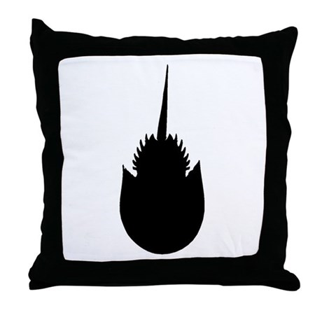 460x460 Horseshoe Crab Silhouette Throw Pillow By Animalsilhouettegifts