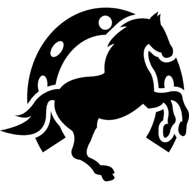 626x626 Dancing Horse And Horseshoe Background Icons Free Download