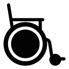 283x283 Hospital Wheelchair Silhouette Silhouette Of Hospital Wheelchair