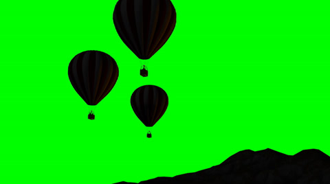 480x268 Hot Air Balloons Silhouette