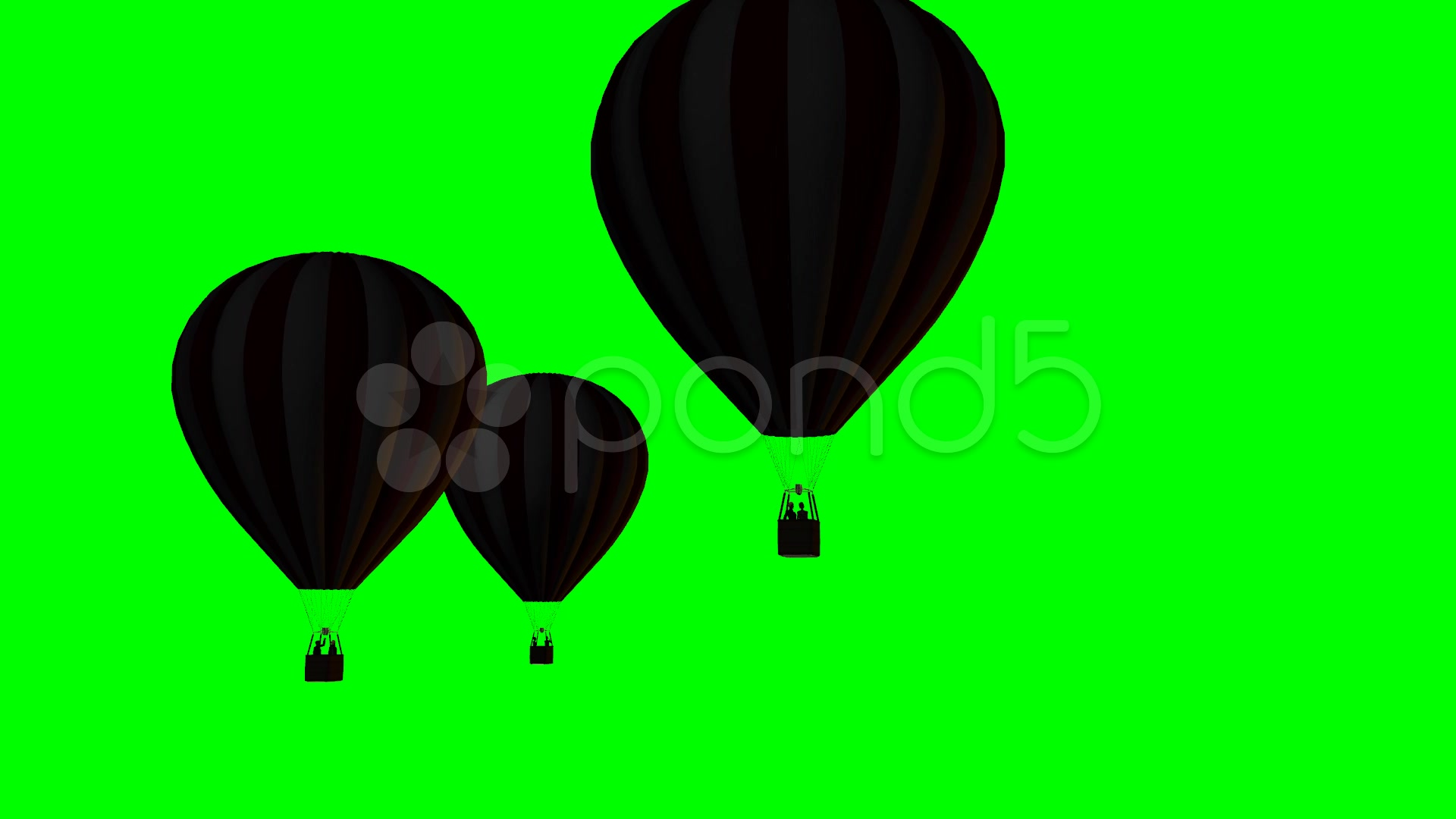 1920x1080 Hot Air Balloons Silhouette