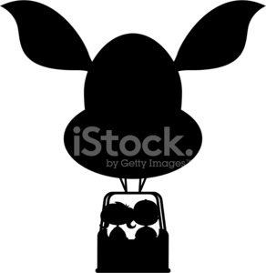 292x300 Kids In Hot Air Balloon Silhouette Stock Vectors