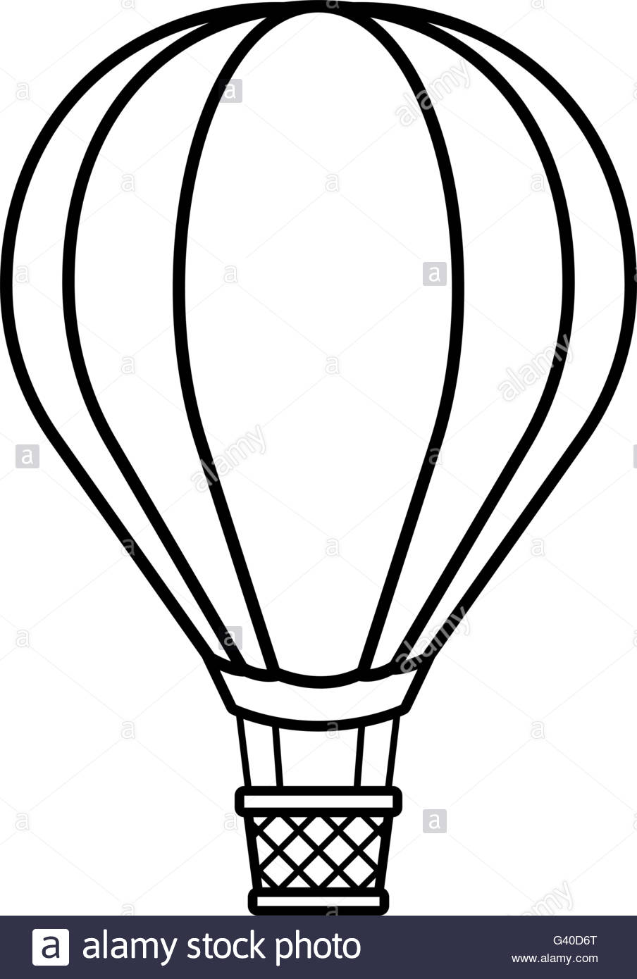904x1390 Vector Image Of Silhouette Hot Air Balloon Over White Background