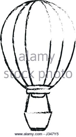 262x470 Colorful Silhouette Of Hot Air Balloon Without Contour And Shading