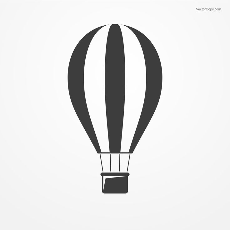 Hot Air Balloon Silhouette Vector