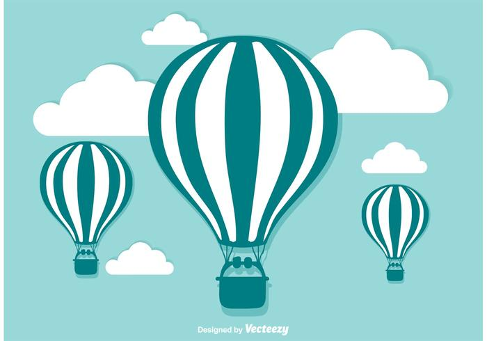 700x490 Hot Air Balloon Vector Illustration