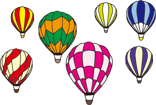 500x338 Hot Air Balloon Silhouette Vector Public Domain Vectors