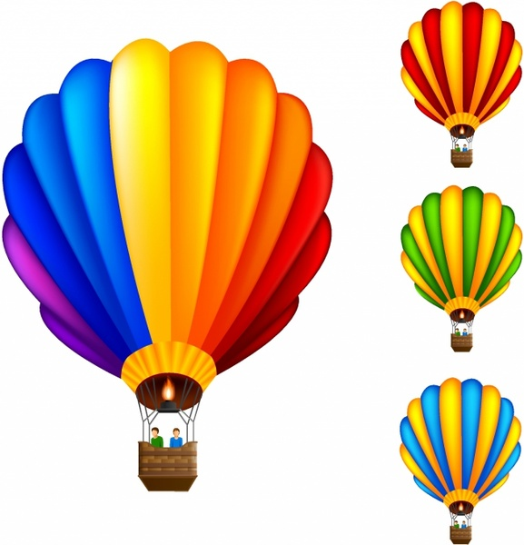 577x600 Hot Air Balloon Free Vector In Adobe Illustrator Ai ( Ai