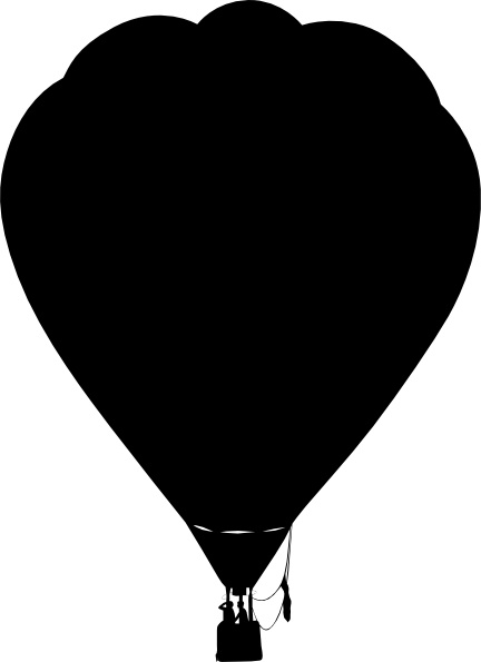 432x595 Clue Hot Air Balloon Outline Silhouette Clip Art Free Vector