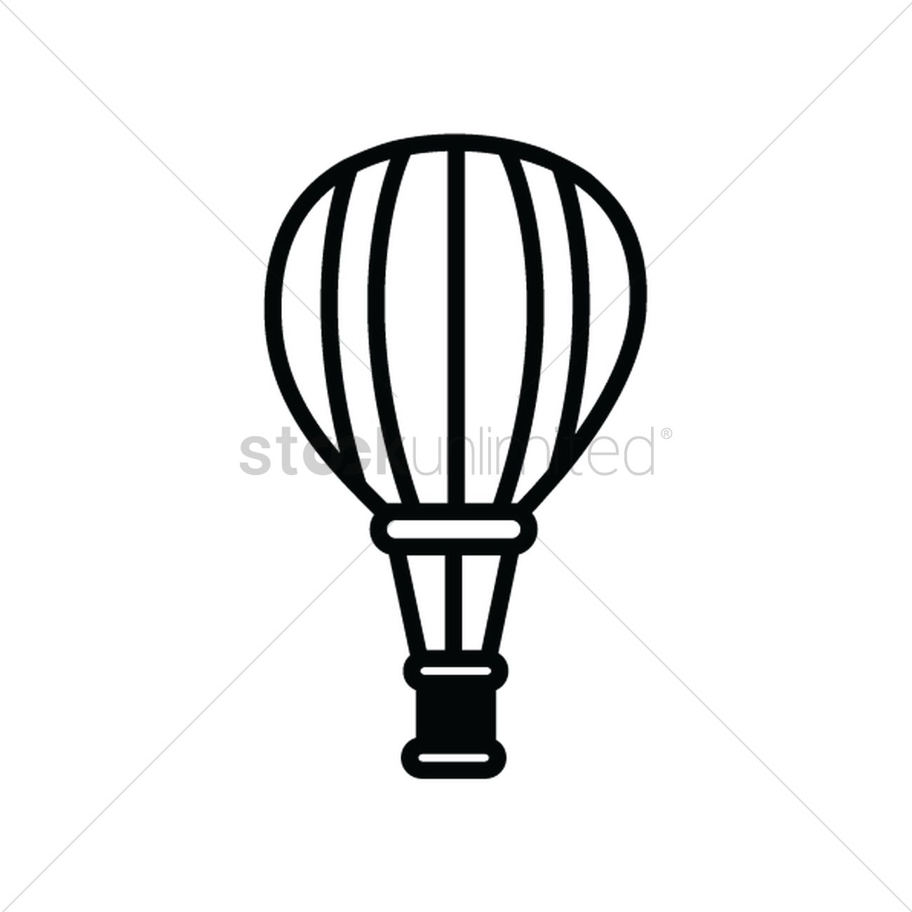 1300x1300 Hot Air Balloon Silhouette Vector Image