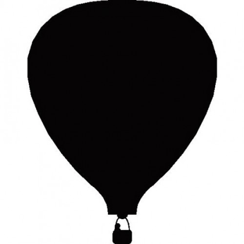 500x500 Vintage Hot Air Balloon Silhouette